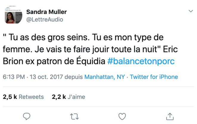 Le tweet poursuivi. © Twitter