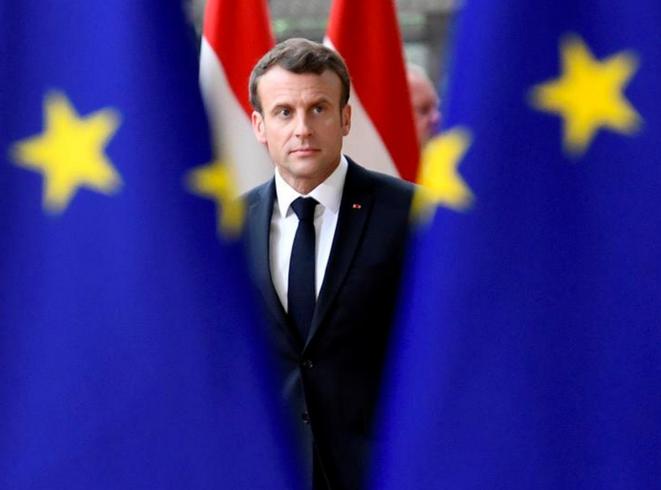 Emmanuel Macron à Bruxelles, le 28 mai. © Reuters