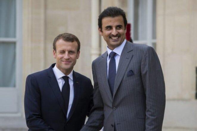 L'Emir du Qatar reçu par le Président Macron