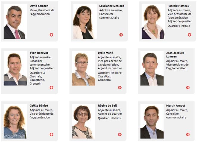 Les principaux adjoints sont divisés. © Capture d'écran / Site de la ville de Saint-Nazaire