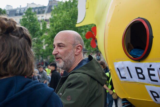 La scénariste Emmanuel Leduc, membre actif du comité des sous-marins jaunes. Paris le 25/05/2019 © Pierre Thomas/IPR