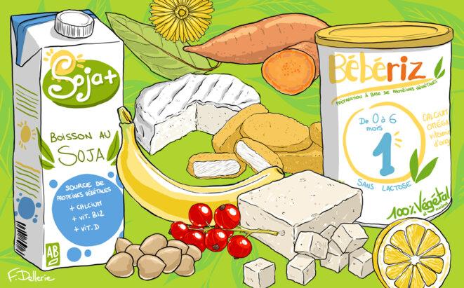Produits végétaliens divers. © Florence Dellerie