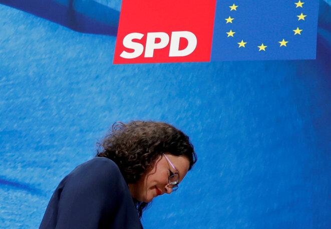 Andrea Nahles, le 27 mai 2019 © Reuters / Fabrizio Bensch.