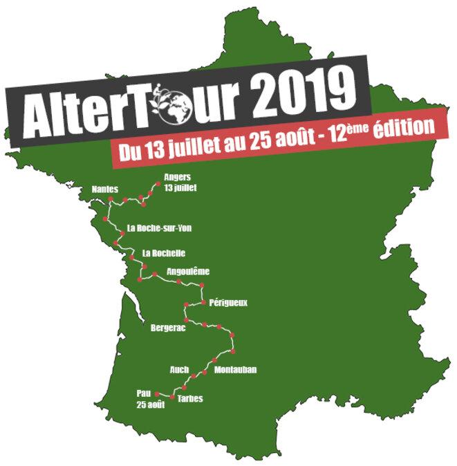 Parcours de l'AlterTour 2019 © AlterTour