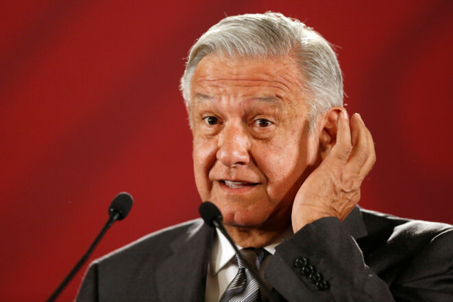 Le président mexicain López Obrador le 4 juin 2019. © Reuters / Gustavo Graf