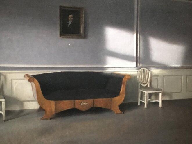 """Vilhelm Hammershøi, """"Rayon de soleil dans le salon, III"""" 1903"""