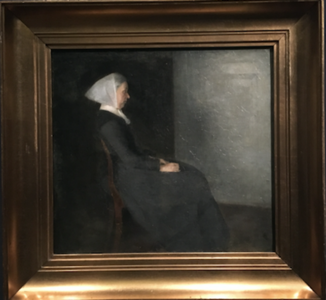 Hammershøi, portrait de la mère de l'artiste, 1886