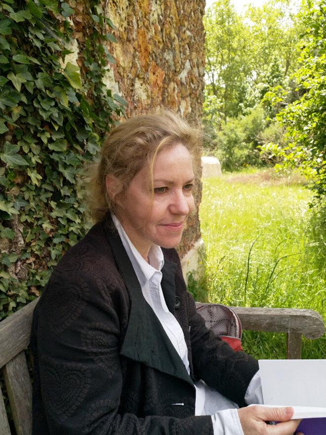 Sophie Loizeau, parc du domaine de Mme Élisabeth à Versailles, 29 mai 2019. © P. B.