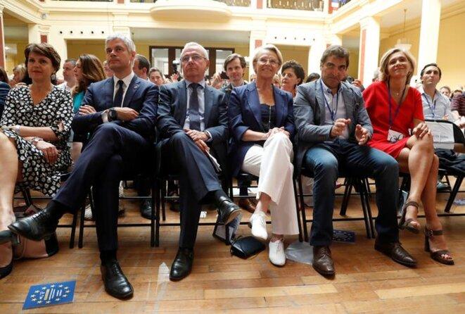 Wauquiez, Alliot-Marie, Jacob et Pécresse, le 30 juin 2018. © Reuters