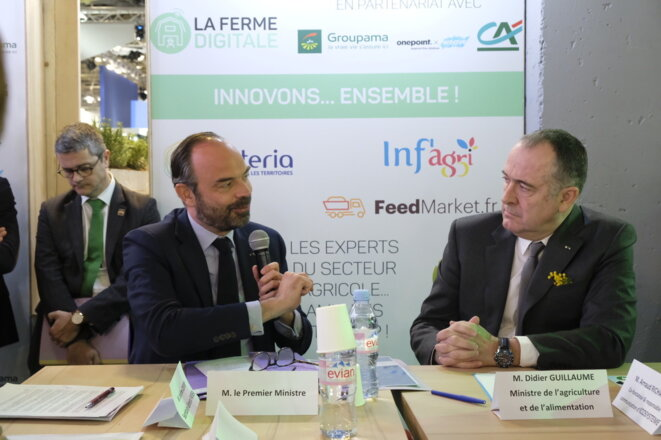 French prime minister Édouard Philippe and agriculture and foods minister Didier Guillaume at the Agriculture Show in Paris. © Ministère de l'agriculture