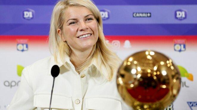 Ada Hegerberg a remporté le premier Ballon d'or féminin. © Reuters