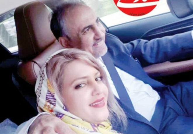 Mohammad-Ali Najafi et son épouse. © DR/Twitter