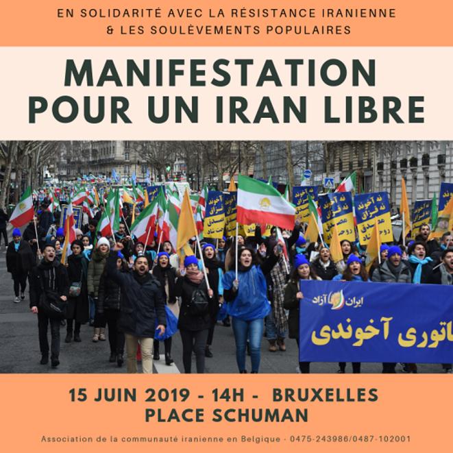 la diaspora Iranienne se retrouvera avec ses soutiens internationaux pour demander à l'Union européenne de mettre fin à sa politique de complaisance avec le régime en Iran.
