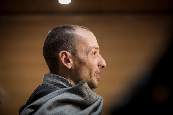 Pierre-Emmanuel Germain-Thill, membre de La Parole libérée, au procès Barbarin, le 7 janvier 2019. © Alberto Campi/We Report