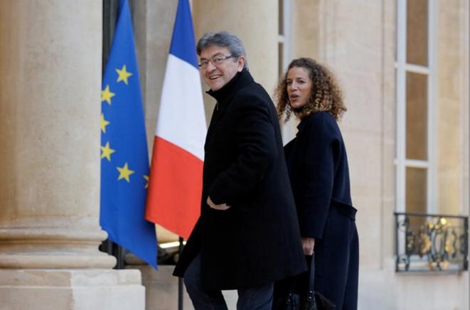 Jean-Luc Mélenchon et Charlotte Girard, en novembre 2017. © Reuters