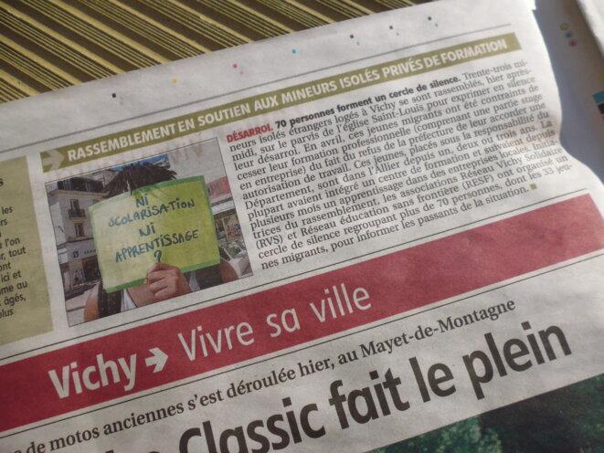 """""""Balcon"""" extrait de l'édition vichyssoise de """"La Montagne"""" du dimanche 2 juin 2019."""