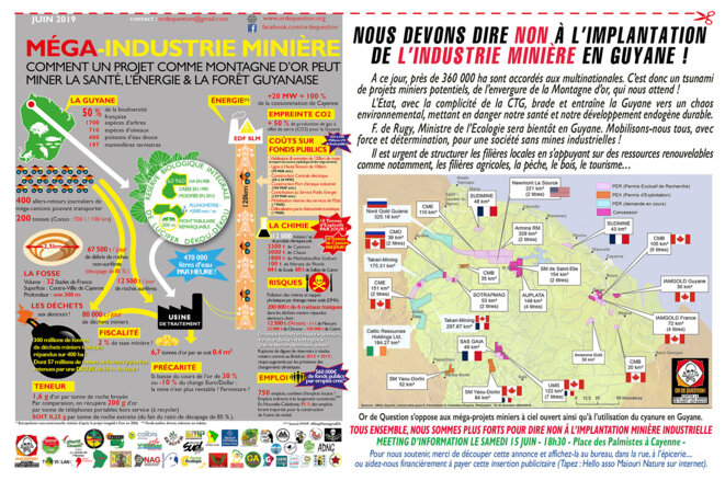 La Guyane sous la cloche de la Recherche minière aurièfre internationale
