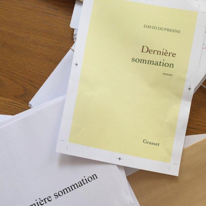«Dernière sommation» (David Dufresne, Grasset) © Grasset