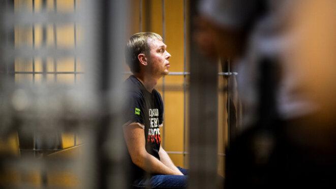 Ivan Golounov en détention © Yevgueni Feldman pour Meduza (CC BY 4.0)