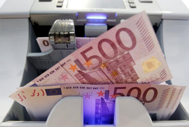 Des billets de 500 euros. © Reuters