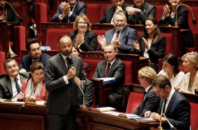 Le premier ministre Édouard Philippe à l'Assemblée nationale, en octobre 2018. © REUTERS/Pascal Rossignol