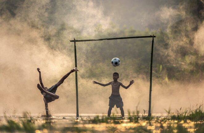 Entraînement au football © Julien