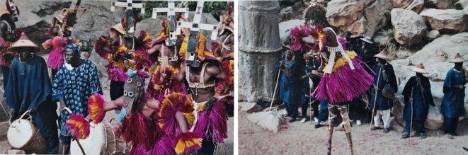 """Cérémonie de danses rituelles (""""dama"""")."""