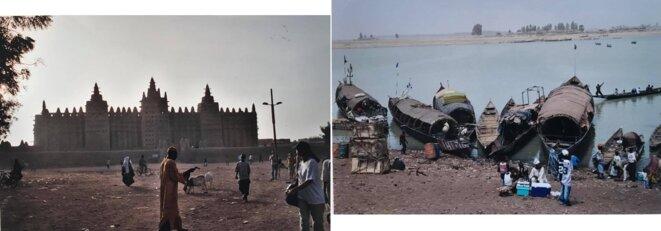 Djenné et sa célèbre mosquée. Port de Mopti au bord du Niger.