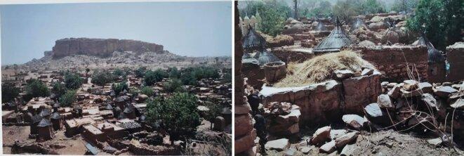 Songho, village dogon, avant d'arriver à la falaise de Bandiagara, et avant Sangha.