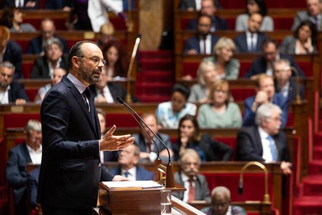 Édouard Philippe à l'Assemblée nationale, le 12 juin. © Pierre-Michel Jean/Mediapart