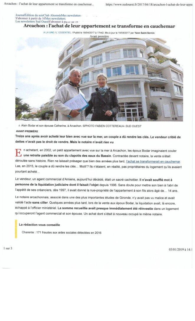 Condamnation 440 000 euros pour la SCP DUCOURAU