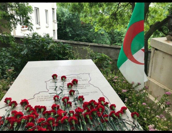 Cénotaphe de Maurice Audin au cimetière du Père-Lachaise