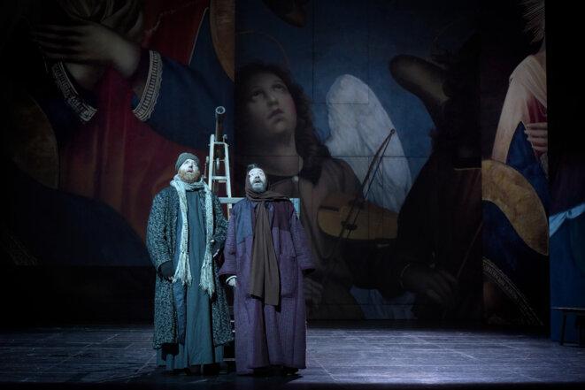 """Scène de """"La vie de Galilée"""" © Vincent Poncet collection. C-F"""