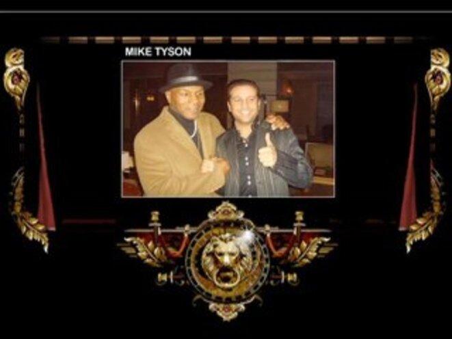 L'ancien boxeur Yassin Halhoul avec Mike Tyson © DR