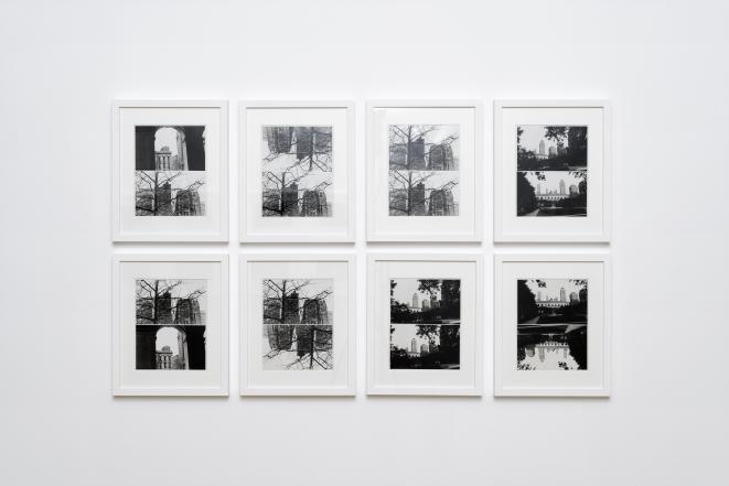 "Babette Mangolte, ""Composites buildings"" (détail), photographies, Spaces to SEE. Musée d'art contemporain de la Haute-Vienne, château de Rochechouart, 2019. © Babette Mangolte, Photo : Aurélien Mole"