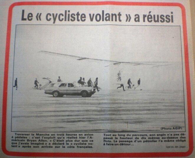 """En illustration, un article paru en """"une"""" de Centre Presse, le journal de la région de Poitiers, le 14 juin 1979."""