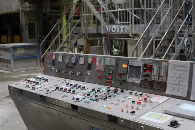 Une machine en veille dans l'usine d'ArjoWiggins. © JP