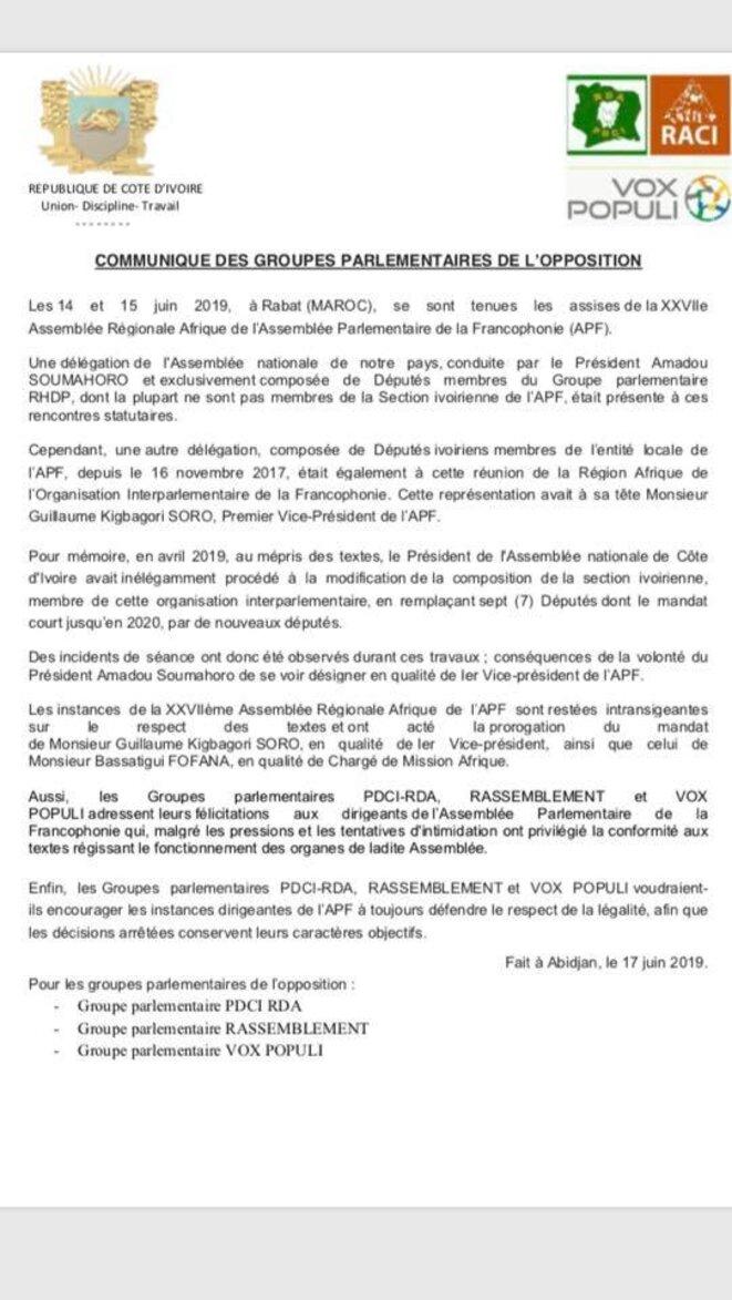 communique-opposition-parlementaire-civ-17-juin-2019