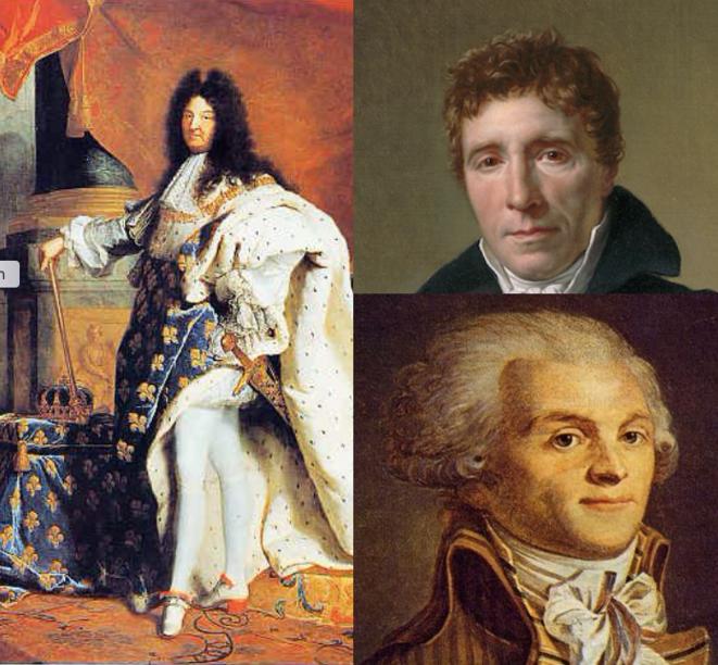 Louis XIV - Siéyès - Robespierre