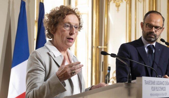 Muriel Pénicaud et Édouard Philippe à Matignon, le 18 juin. © Ministère du travail