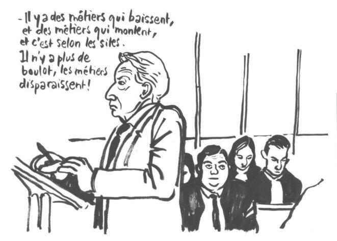 Louis Pierre WENES au Procès Lombard © Claire Robert