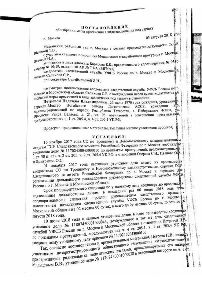 verdict du 3 août 2018 -2- © Juge russe Shanina