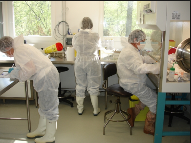 A research laboratory at INRA. © DR