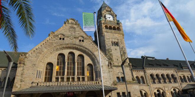 La gare de Metz, sur le pavé de laquelle Arthur aura passé quelques nuits. © Eric Graff