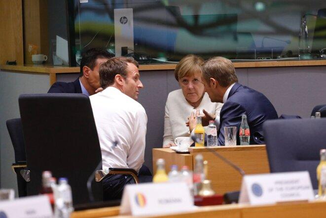 Au conseil européen, le 20 juin. © DR