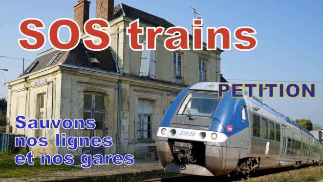 SOS trains - Sauvons nos lignes et nos gares © Pierre Reynaud