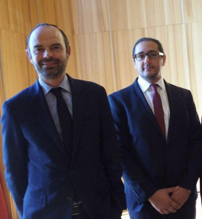 Édouard Philippe et Khalid Bouksib. © DR