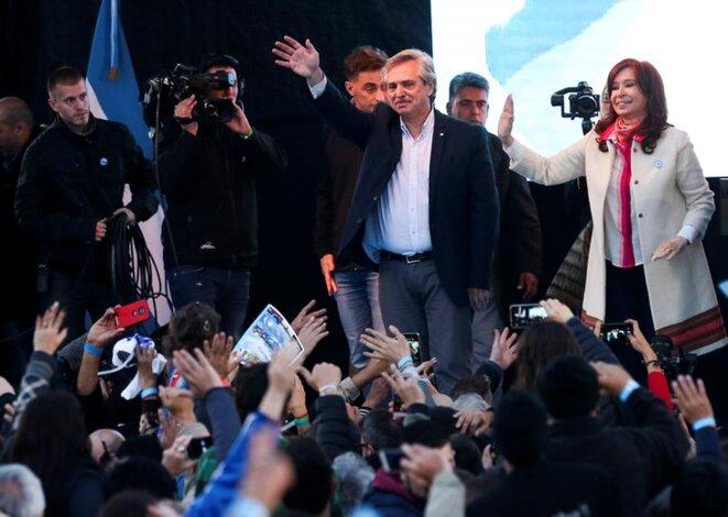 Alberto Fernández et Cristina Kirchner, à Buenos Aires, le 25 mai 2019. © Reuters
