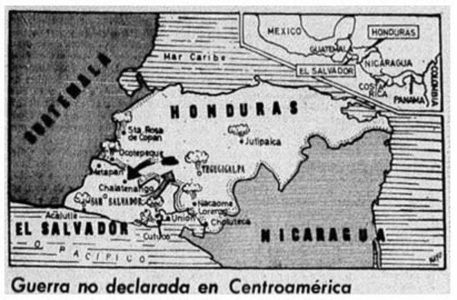 Carte de l'Amérique centrale.