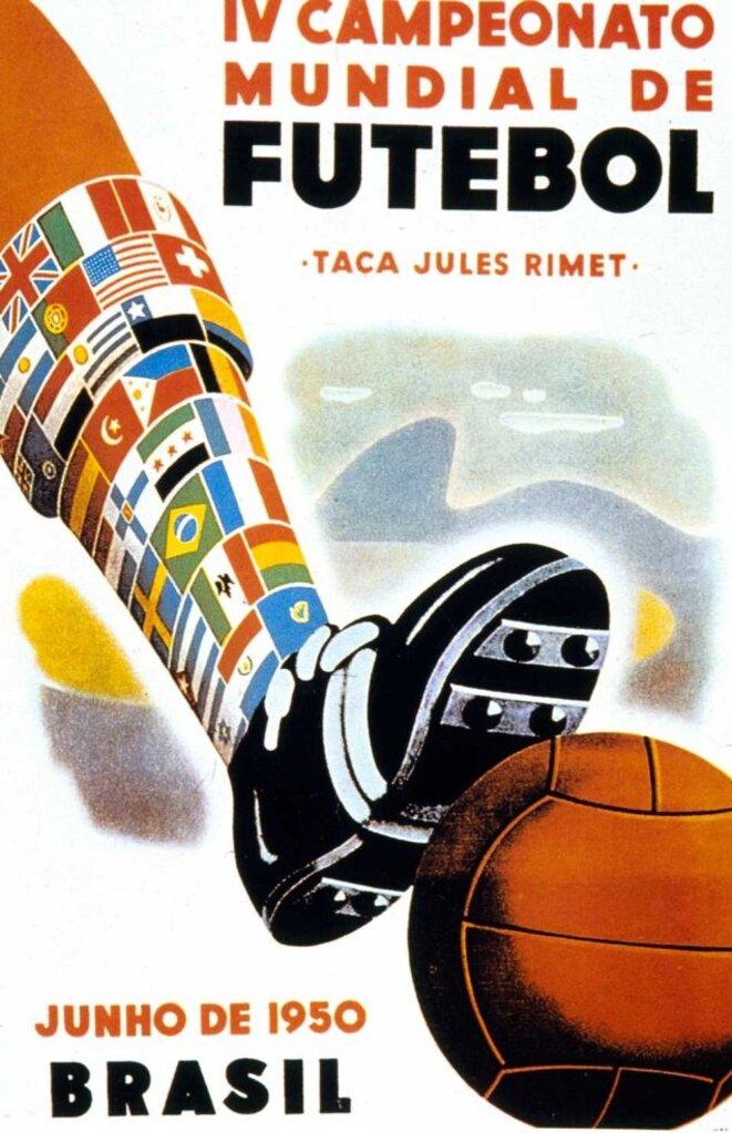 Affiche de la Coupe du Monde 1950 au Brésil